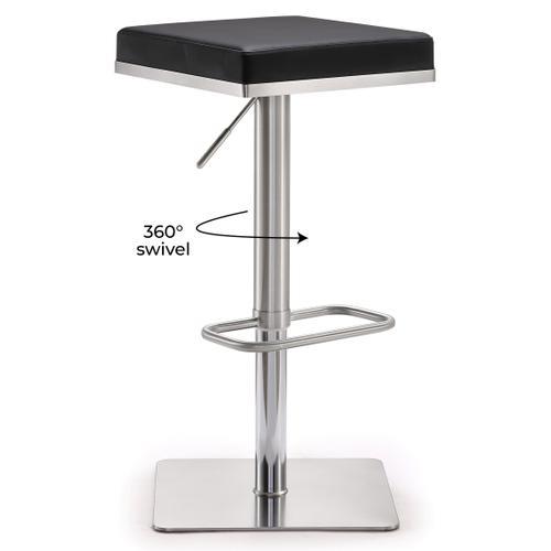 Tov Furniture - Bari Black Stainless Steel Barstool