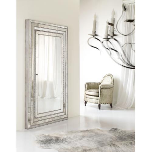 Melange Glamour Floor Mirror w/Jewelry Armoire Storage