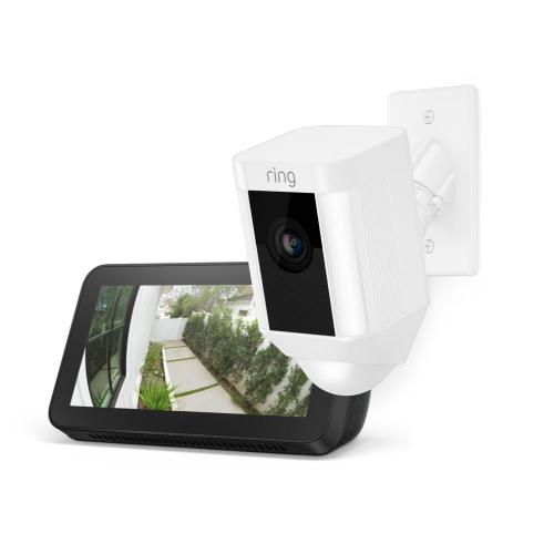 Spotlight Cam Mount with Echo Show 5 - White