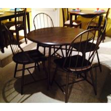 See Details - Heather 5 Pc Round Dinette with Bowback Chairs