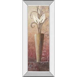 """Flower In Vase I"" Print in Mirrored Framed Print Wall Art"