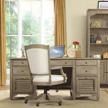 See Details - Myra - Executive Desk - Natural Finish