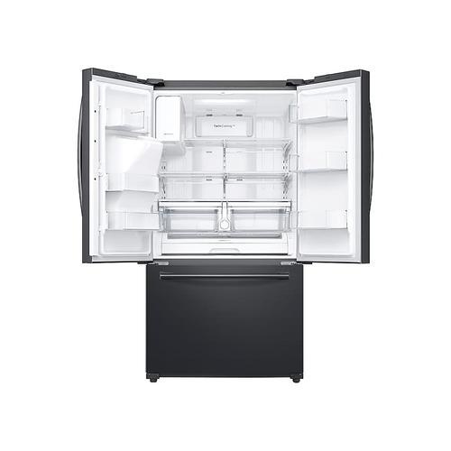 Samsung - 24 cu. ft. Family Hub™ 3-Door French Door Refrigerator in Black Stainless Steel