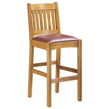 Bar Stool Slat Back Seat Height 30, Oak Stool