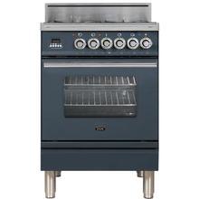 Professional Plus 24 Inch Gas Liquid Propane Freestanding Range in Blue Grey with Chrome Trim