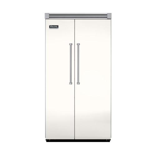 "Viking - Cotton White 42"" Side-by-Side Refrigerator/Freezer - VISB (Integrated Installation)"