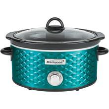See Details - 4.5-Quart Scallop Pattern Slow Cooker (Blue)
