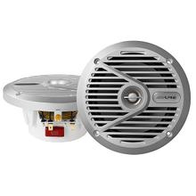 "6.5"" Coaxial 2-Way Marine Speaker with Silver Grilles"