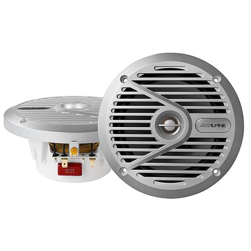6.5 Coaxial 2-Way Marine Speaker with Silver Grilles