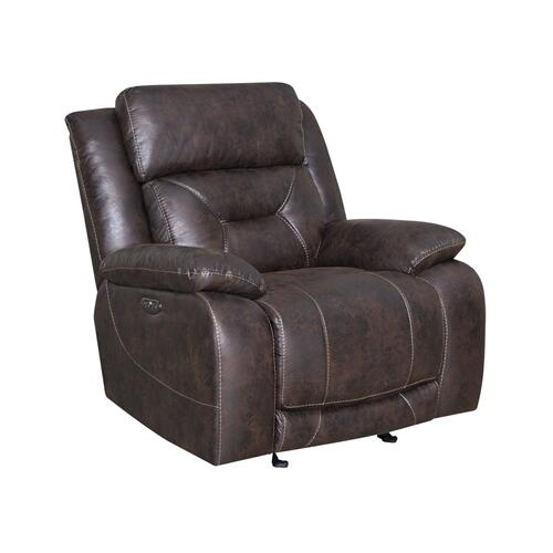Aria Dual-Power Recliner, Saddle Brown