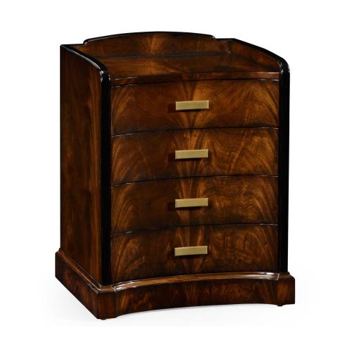 Biedermeier style mahogany bedside chest