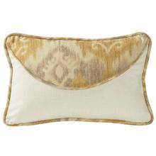 Casablanca Envelope Lumbar Pillow, Taupe & Flaxen Ikat