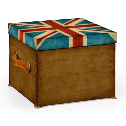Union Jack Square Box Painted