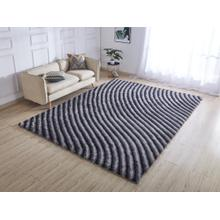 Soft Three Dimensional Polyester Viscose Hand Tufted 3D 303 Shag Area Rug by Rug Factory Plus - 5' x 7' / Gray