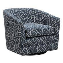 Trilogy Swivel Accent Chair, Graphic Navy U4198-04-04a