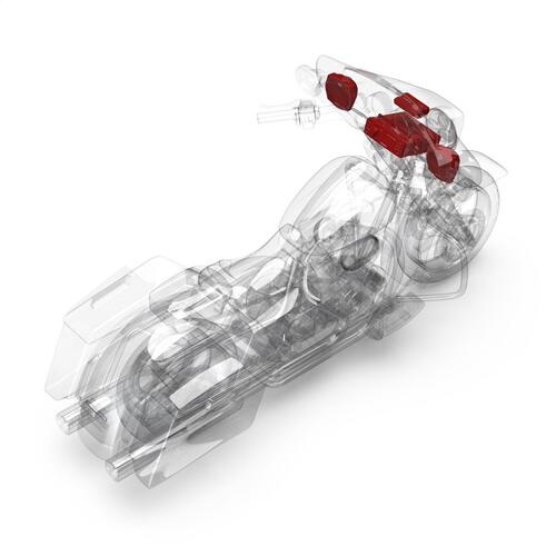 Rockford Fosgate - 1998-2013 Harley-Davidson® Street Glide® Source Unit, 2-Speaker & Amp Kit