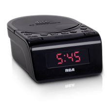 CD clock radio with battery backup