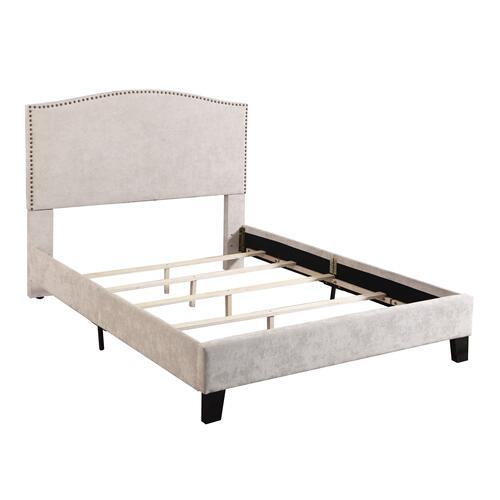 Colton Full Upholstered Bed, Cream B126-09hbfbr-09