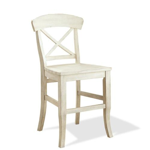 Regan - X-back Counter Stool - Farmhouse White Finish