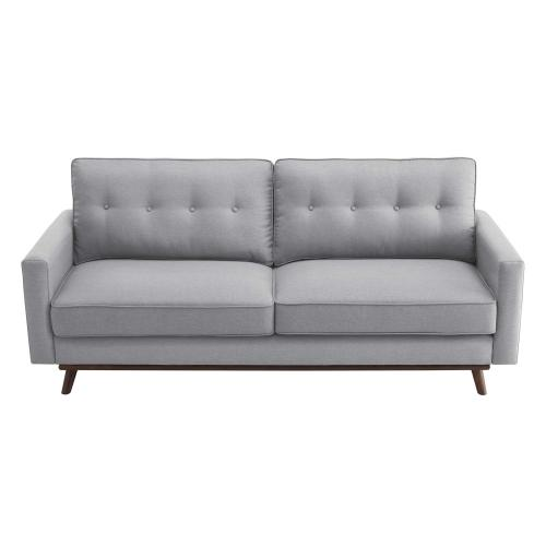 Prompt Upholstered Fabric Sofa in Light Gray