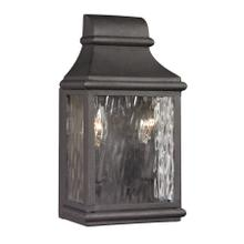 View Product - Forged Jefferson 2-Light Outdoor Wall Lamp in Charcoal
