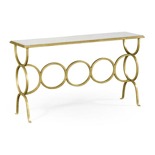glomise & Gilded Iron Circles Console