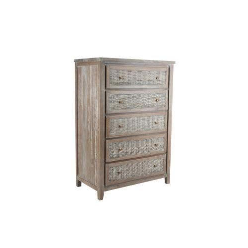 5 Drawer Chest, Available in Vintage Smoke Finish Only.
