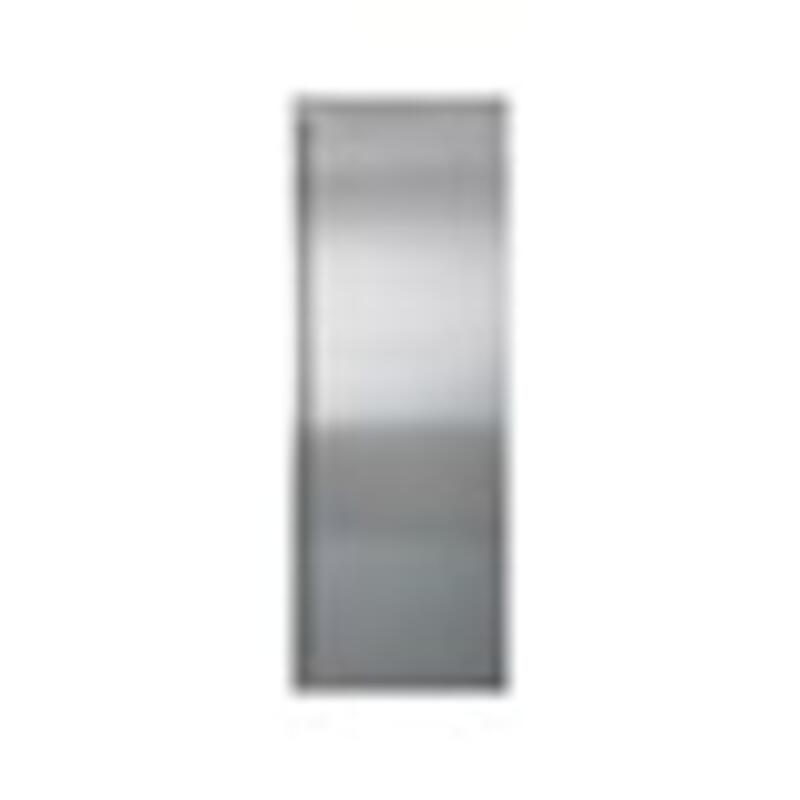 """Classic 36"""" Stainless Steel Flush Inset Refrigerator Door Panel with Tubular Handle"""