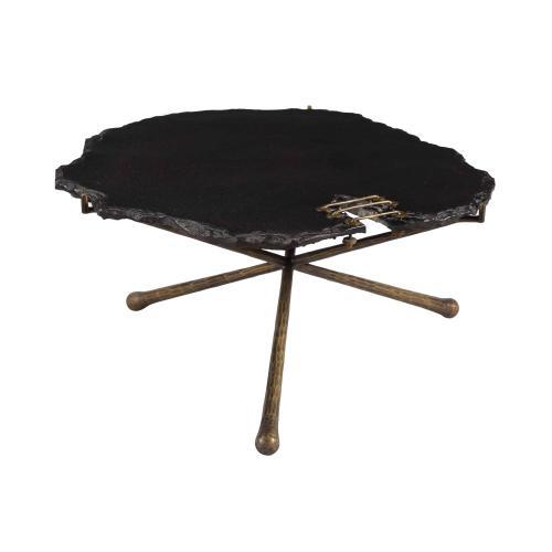 Serra Black Stone Cocktail Table
