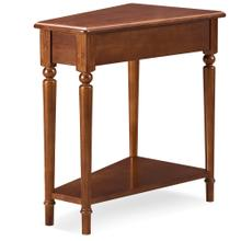 Pecan Wedge Table with Shelf #20035-PC