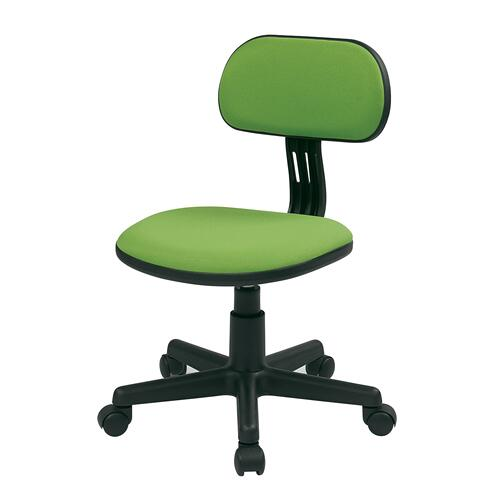 Student Task Chair In Green Fabric