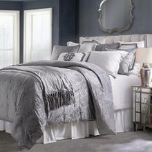 See Details - Diane Embossed Velvet Comforter Set, Gray - Super King