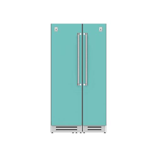 "Hestan - 42"" Column Refrigerator (L) and Freezer ® Ensemble Refrigeration Suite - Bora-bora"