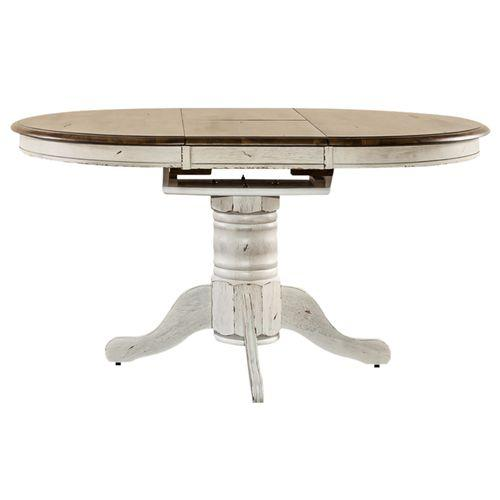 Liberty Furniture Industries - Oval Pedestal Table Top- White