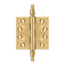 "3-1/2"" x 3-1/2"" Square Hinges - PVD Polished Brass"