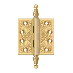 "3 1/2""x 3 1/2"" Square Hinges - PVD Polished Brass Product Image"