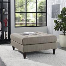 See Details - Empress Upholstered Fabric Large Ottoman in Granite