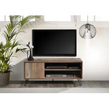 "See Details - 2031 RUSTIC OAK Faux Wood TV Stand - 47"" L"