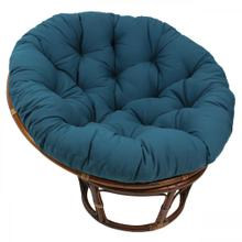 Bali 42-inch Indoor Fabric Rattan Papasan Chair - Walnut/Indigo