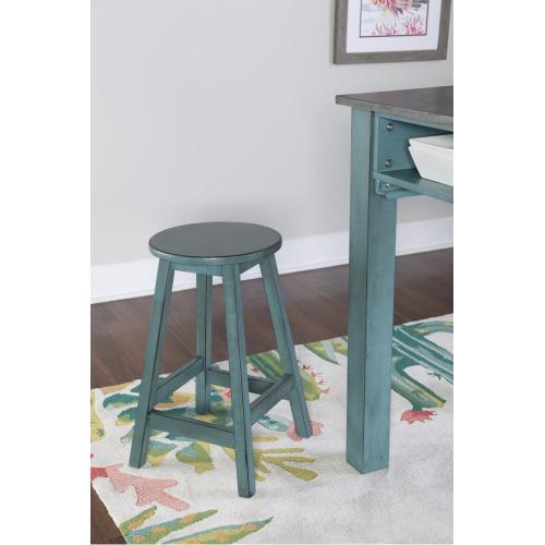 Counter Height Island Stools, Teal and Grey (set of 2)