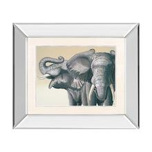 Elephant By Peter Moustakas (mirrored Frame)