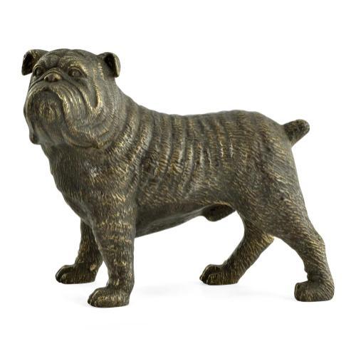 Bull dog in antique bronze