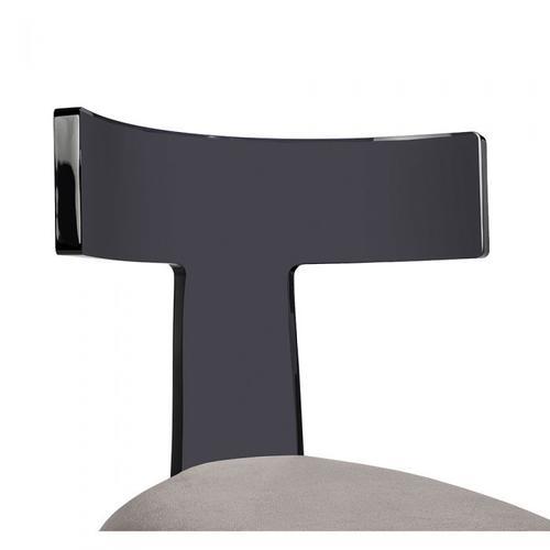Tristan Acrylic Klismos Chair - Smoke