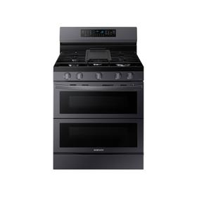 6.0 cu. ft. Smart Freestanding Gas Range with Flex Duo™ & Air Fry in Black Stainless Steel