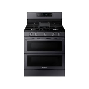 Samsung Appliances6.0 cu. ft. Smart Freestanding Gas Range with Flex Duo™ & Air Fry in Black Stainless Steel