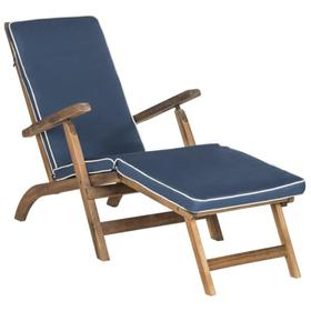 Palmdale Lounge Chair - Natural / Navy