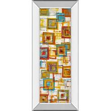 """Square Abstract"" Mirror Framed Print Wall Art"