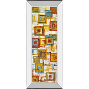 """""""Square Abstract"""" Mirror Framed Print Wall Art"""