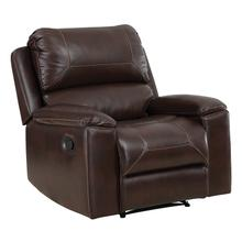 See Details - Santiago Recliner With Espresso Faux Leather
