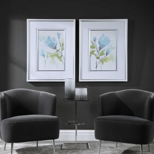 Cerulean Splash Framed Prints, S/2